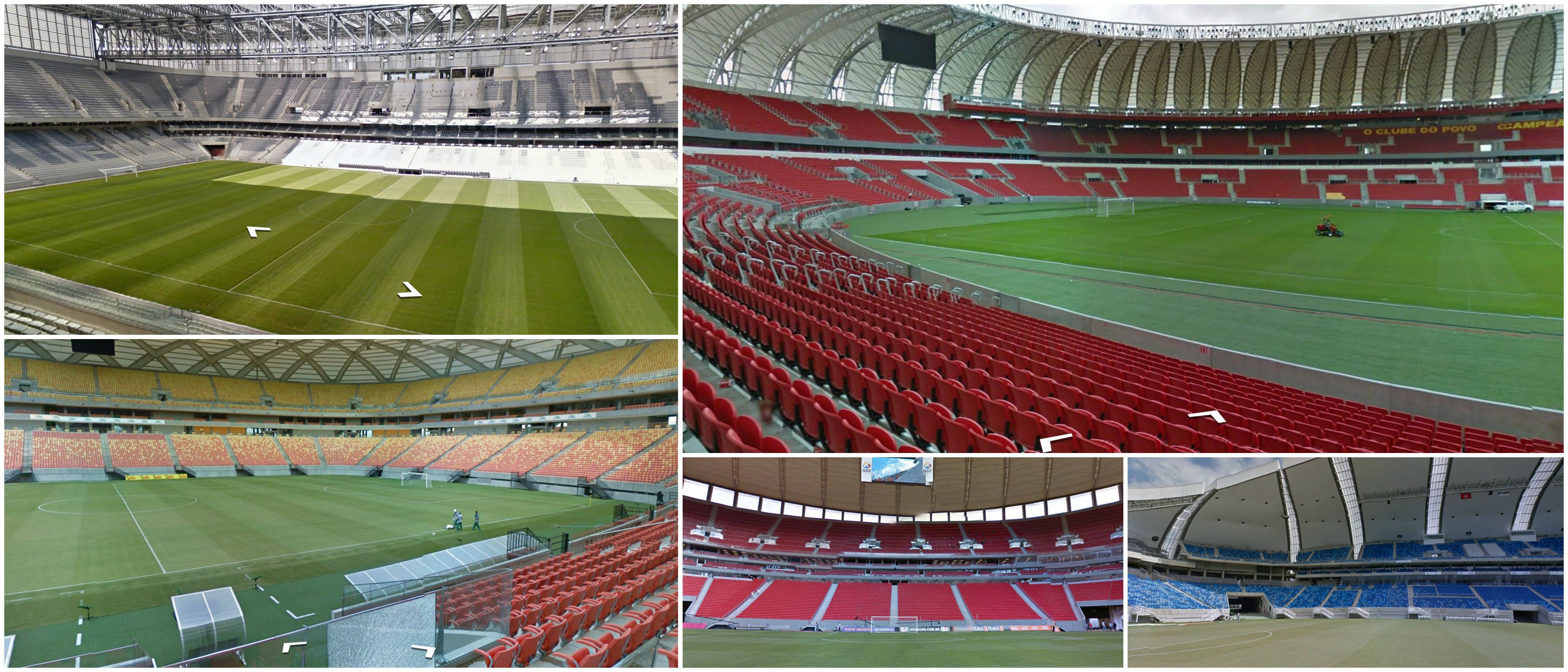 Bezoek alle WK-voetbalstadions in Brazilie; Arena de Sao Paulo; Stadion Mineirão; Estádio do Maracanã; Estádio Nacional de Brasília Mané Garrincha; Beira-Rio